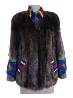 D Arcy Moses Long Hair Beaver Jacket preowned unique ski jacket - short fur coat on resale