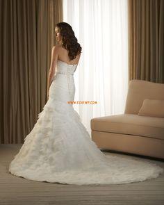 Trumpet/Mermaid Chapel Train Lace-up Wedding Dresses 2014