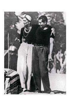 """""""Antes que yo, nadie se habría atrevido a vestirse de negro"""".    Gabrielle """"Coco"""" Chanel y Serge Lifar, 1937"""