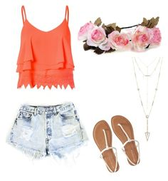 """""""summer"""" by anjana-akanksha on Polyvore featuring Glamorous, Levi's, Aéropostale and House of Harlow 1960"""