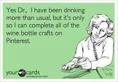 Wine bottle crafts - my life! Wine Craft, Wine Cork Crafts, Wine Bottle Crafts, Mini Wine Bottles, Wine Bottle Corks, Juice Bottles, Wine Quotes, Message In A Bottle, Interesting Quotes