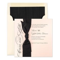 Top Pinned Product This Week: Sash Invitations - Checkerboard (finestationery.com)