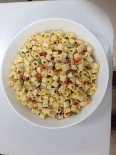 Chef Shelia's Flying Olive Pasta Salad.