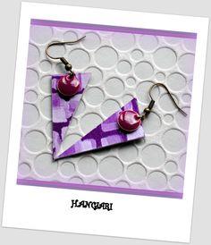 Boucles d'oreilles originales~Boucles d'oreilles graphiques~Boucles d'oreilles triangle_légères~Boucles d'oreilles violettes/www.alittlemarket.com/boutique/boucles-d-oreilles-originales-insolites : Boucles d'oreille par boucles-d-oreilles-originales-insolites