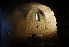 (VIEW 2 OF 3)| Pécsvárad Castle, 10. century chapel | Hungary, Baranya County.  Fortress and Benedictine monastery, founded in 988. Still working. www.pecsvaradivar.hu/en/history-of-the-castle Pécsváradi vár,  10. sz-i kápolna. www.pecsvaradivar.hu/a-var-tortenete