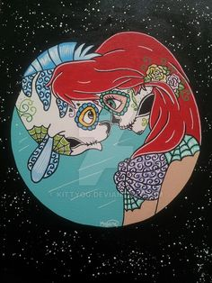 Sugar+Skull+Ariel+by+KITTYOG.deviantart.com+on+@DeviantArt