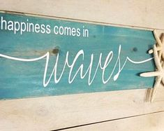 Beachy Signs, Beach Signs Wooden, Nautical Signs, Nautical Wall Decor, Nautical Art, Cottage Signs, Beach Cottage Decor, Coastal Decor, Coastal Living