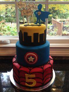 Children's Birthday Cakes - Superhero cake