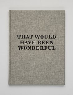 that would have been wonderful | book cover #design