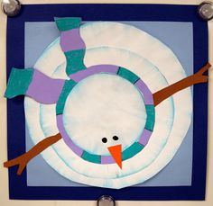 Art with Mrs. Nguyen (Gram): Birds-Eye-View Snowman II (4th)