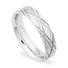 White gold wedding band by Christian Bauer