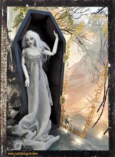 VAMPIRA Vampire BJD doll BALL JOINTED +Coffin by SutherlandArt.deviantart.com on @deviantART