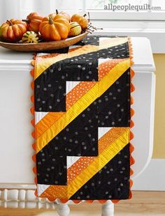 Candy Corn runner by Trina Kirkvold for All People Quilt