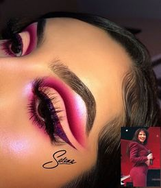 Matte Shimmer Eyeshadow Palette Long-lasting Waterproof Pigmented Eye shadow with and Double Ended Brush Makeup Set, 2 Eye Make-up Pallets - Cute Makeup Guide Makeup Eye Looks, Eye Makeup Art, Cute Makeup, Skin Makeup, Eyeshadow Makeup, Makeup Box, Pretty Makeup, Eyeshadows, Creative Eye Makeup