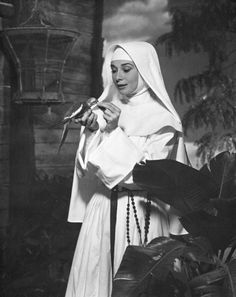 Audrey Hepburn in a publicity shot for The Nun's Story (Fred Zinnemann, 1959)