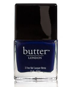 Try a royal blue hues on nails. butter LONDON #nail #lacquer #macys BUY NOW!