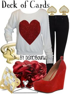 Deck of Cards by Disney Bound. Fashion Disney Outfit. Alice in wonderland.