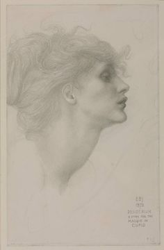 Desiderium, 1873 Sir Edward Coley Burne-Jones, Bt Pencil on paper 210 x 133 mm Reference: . In 1872 Burne-Jones embarked on a group of drawings illustrating 'The Masque of Cupid', a subject. Life Drawing, Figure Drawing, Drawing Sketches, Painting & Drawing, Art Drawings, Person Drawing, Silverpoint, Edward Burne Jones, Tate Britain