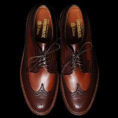af3870687258 Alden x Union Made Goods two toned long wings Wingtip Shoes