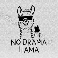 No Drama Llama SVG