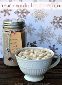 This French Vanilla Hot Cocoa Mix is SO rich and creamy! I can never go back to regular packaged hot cocoa again!