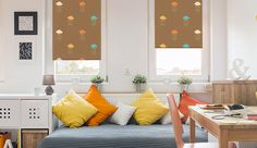 Raindrops #rollerblind #windowtreatments #windowdecor #interior #design #home #decor #patterns #raindrops #colors #DIY