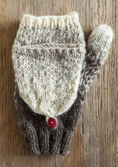 Gradient Flip-Top Mittens (Free Knitting Pattern)