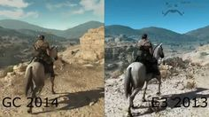 Metal Gear Solid V: The Phantom Pain - E3 2013 vs Gamescom 2014 - Graphics Comparison - 1440p