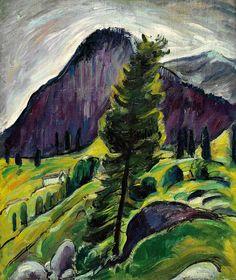 Siegfried Berndt (German, 1880-1946), Berglandschaft [Mountain landscape], c.1920. Oil on canvas, 89.5 x 74.5 cm.  blastedheath