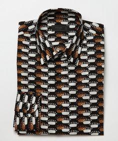 Etro men's purple cotton pique printed collar polo shirt | eeClothes