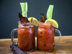 Recipe and video for Smoked Bloody Marys with Smoked Bacon. Smoke tomatoes and bacon and blend into the ultimate brunch drink for smoked food lovers.