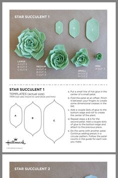 , Best Picture For Diy Felt Flowers videos For Your Taste You are looking for something, and it is g Paper Succulents, Paper Flowers Diy, Flower Crafts, Fabric Flowers, Felt Diy, Felt Crafts, Fabric Crafts, Paper Crafts, Diy Paper