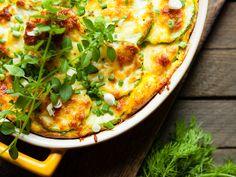 Gratin de courgettes aux carottes et aux lardons : Marmiton