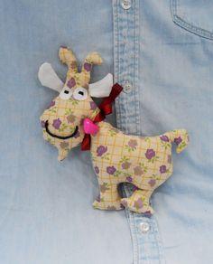 Handmade stuffed goat  Organic stuffed goat  Organic by FelThink