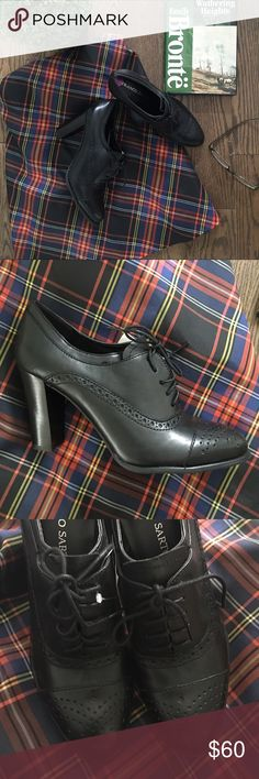 Franco Sarto Oxford Pumps Sold out! Black Oxford pumps with a chunky heel. Footbed has slight cushion. Size 8.5. NWT. Paid $89 - will take $60. Franco Sarto Shoes Heels