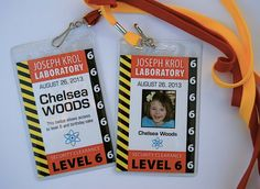 OPT3: Scientist Badge PRINTED with badge cover and lanyards. $2.25, via Etsy.