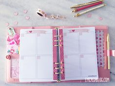 DOWNLOAD: PLANNER SEMANAL LOVE. FREEBIE. INSERTS A5 E PERSONAL Life Planner, Happy Planner, Printable Planner, Printables, Planner Inserts, A5, School Supplies, Free Crochet, Free Calendars