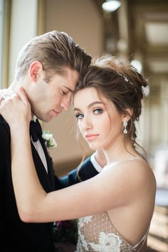 This sparkle and vintage wedding inspiration is just the modern-day time warp to escape to an era that embodied class at the historic Alexandria Ballroom, Bridal Earrings, Bridal Jewelry, Pearl Earrings, Swarovski Stones, Strictly Weddings, Gowns Of Elegance, Wedding Couples, Wedding Gowns, Wedding Inspiration