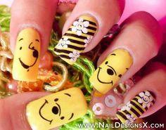 winnie pooh nail art
