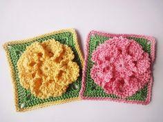 ▶ Цветок в квадрате Flower in a square Crochet - YouTube