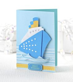 Free dowload ship-shape card #craft