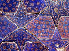 Uzbekistan bohemian | patterns | tiles | ceramic | eclectic | color