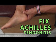 Achilles tendon pain treatment is usually treated by resting your leg and doing nothing that will aggravate it Insertional Achilles Tendonitis, Achilles Tendonitis Exercises, Achilles Pain, Tendon D'achille, Plantar Fasciitis Exercises, Achilles Stretches, Ankle Strengthening Exercises, Foot Exercises, Ankle Pain