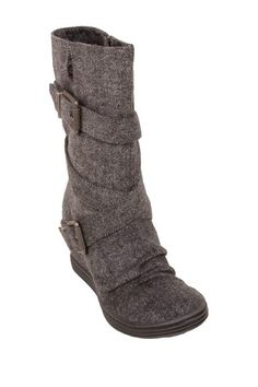 In search of the perfect fall boot: Tavi Hidden Sneaker Wedge Boot - I love Blowfish!