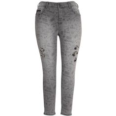Melissa Mccarthy Seven7 Plus Decons Distressed Skinny Jeans ($59) ❤ liked on Polyvore featuring plus size women's fashion, plus size clothing, plus size jeans, nancy black, plus size, women's plus size jeans, plus size distressed jeans, ripped jeans, plus size ripped jeans and destroyed skinny jeans
