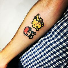 Pikachu Red Nintendo tattoo
