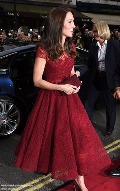 """Catherine, Duchess of Cambridge attends the opening night of """"42nd Street"""" at Theatre Royal on April 4, 2017 in London."""