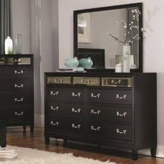 Check out the Coaster Furniture 203123 Devine 9 Drawer Dresser in Black  priced at $604.00 at Homeclick.com.