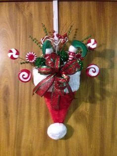 Christmas Santa Hat Door Hanger                                                                                                                                                                                 More