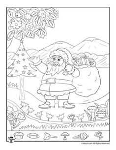 Art therapy activities for kids Santa Claus Christmas Hidden Picture Printable Page Christmas Worksheets, Free Christmas Printables, Christmas Activities, Free Printables, Math Coloring Worksheets, Worksheets For Kids, Art Therapy Activities, Activities For Kids, Creative Activities